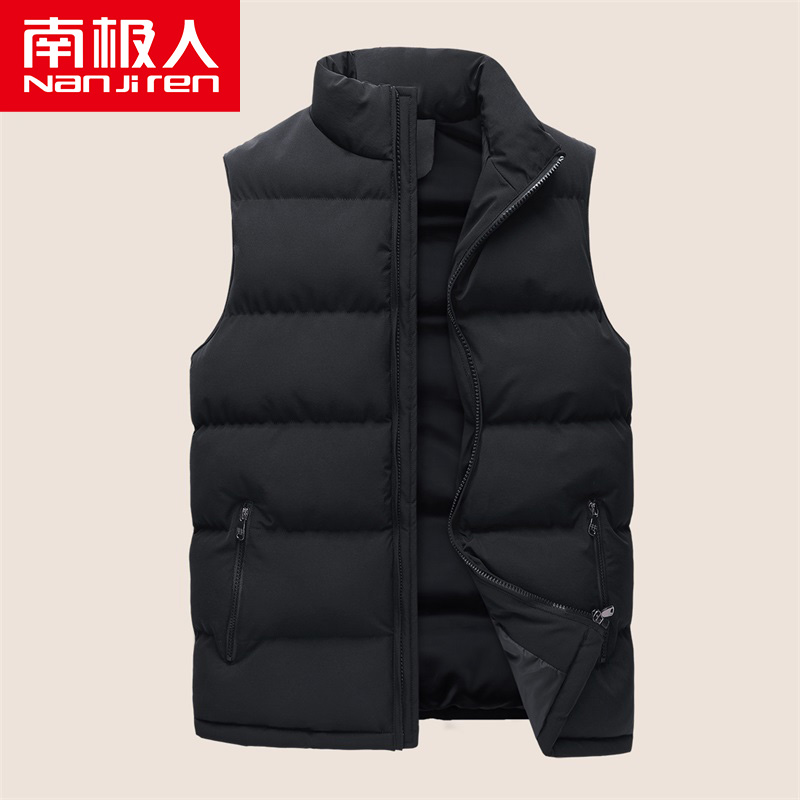 Horse clip men winter thickening warm trend large-size collar sleeveless jacket down cotton clothing mens warm vest thick