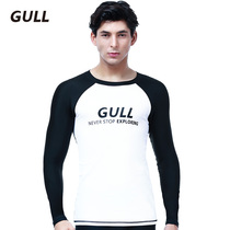 GULL wetsuit mens snorkeling gear surfwear long-sleeved swimsuit split jellyfish dress conservative sun protection suit