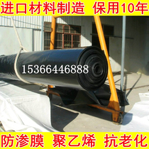 Black film geomembrane anti-permeable film HDPE waterproof film black plastic cloth big shed film pond culture special