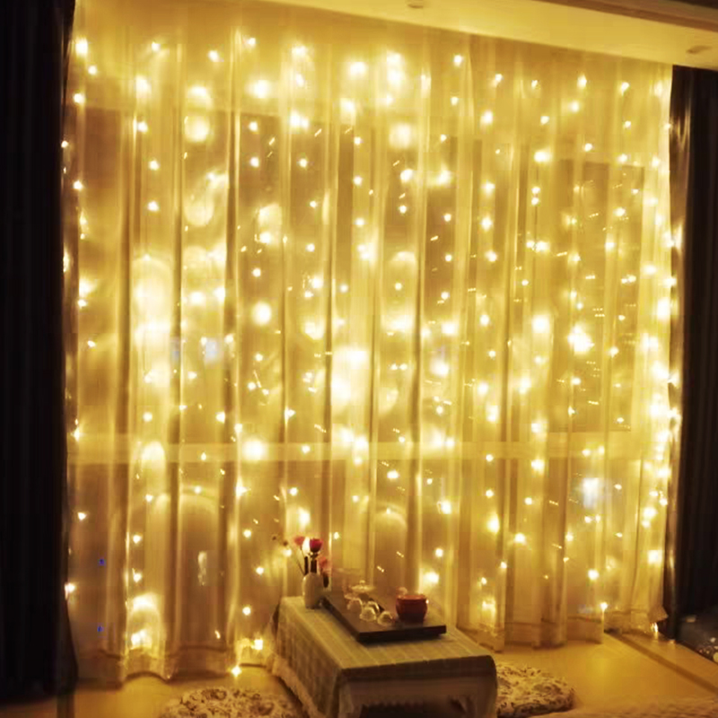 LED curtain lights waterfall lights string lights string lights all over the starry room decoration bedroom romantic arrangement of starlight