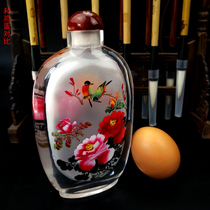 Chinese characteristics handicrafts inside the painting Hengshui snuff pot large crystal painting unit cultural gifts.