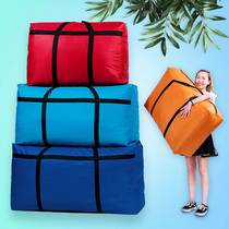 Migrant workers cotton clothing moving bags finishing college students winter clothes out dust cover big bag travel collection bag household