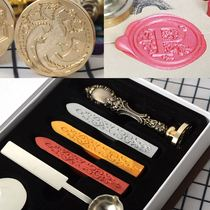 Letter Fire Paint Set Vintage Envelope Fire Paint Blank DIY Paper Seal Gift Wax Seal.