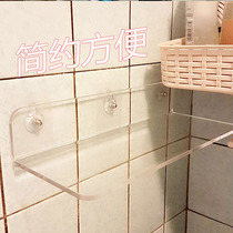 Acrylic hole-free bathroom kitchen storage rack wall shelf wall hanging partition plexiglass panel rack.