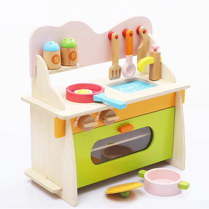Childrens home simulation wooden toys 3-5-7 girls home kitchen baby kitchen cutlery set