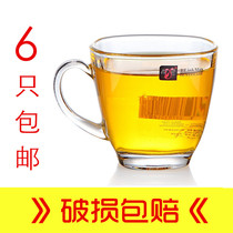 Special price thickened heat-resistant square mouth creative glass with handle cup home tea cup juice beer coffee cup.