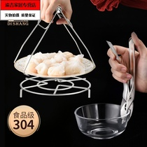 Anti-hot clip 304 stainless steel bowl clip kitchen clamper anti-hot chucker tray picker grasping plate.