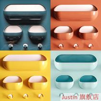 Sticky wall frame hanging on the wall wall wall storage box paste toilet nail-free wall cosmetics.
