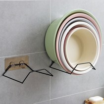 Hanging wall-type storage rack strong stick paste balcony bathroom put the face basin foot basin shelf home storage basin