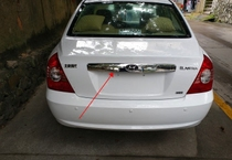 04-12 Modern old and new Elantra modified special trunk bright strip rear door decoration stainless steel bright strip.