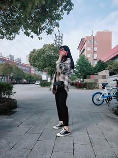 【新风尚】哈伦裤春秋宽松直筒韩版休闲显瘦九分高腰小脚西装萝卜黑色女裤子
